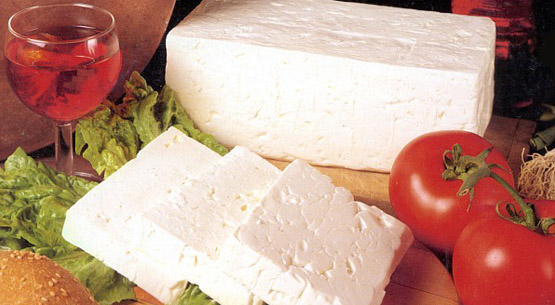 Feta Cheese and Kashkaval Yellow Cheese